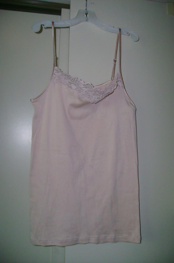 Hanro of Switzerland beige cotton, poly & elastane shell tank cami-small-NWOT'S