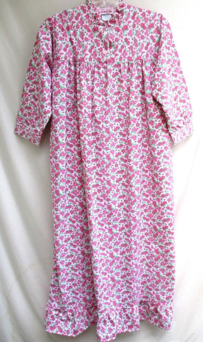LADY LINDSAY..100% COTTON..PINK FLORAL..FULL LENGTH..NIGHTGOWN/ PAJAMAS..NEW..L