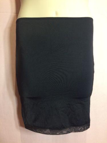 "Vassarette L (M?) Black Half Slip 11490 Women's Smoothing Waist 28""-38"" Slimming"