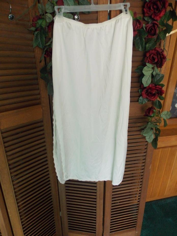 Shadow Line Half Slip with Split Sides White Large 34