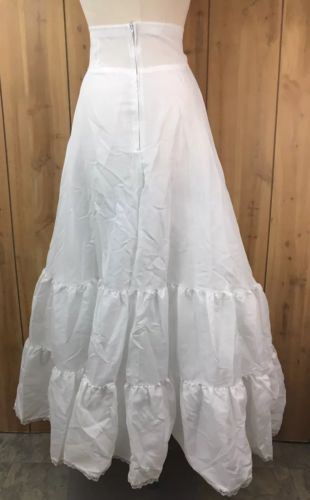 Under Cover White 2 Layer Bridal Underskirt Crinoline Petticoat Slip Size 11