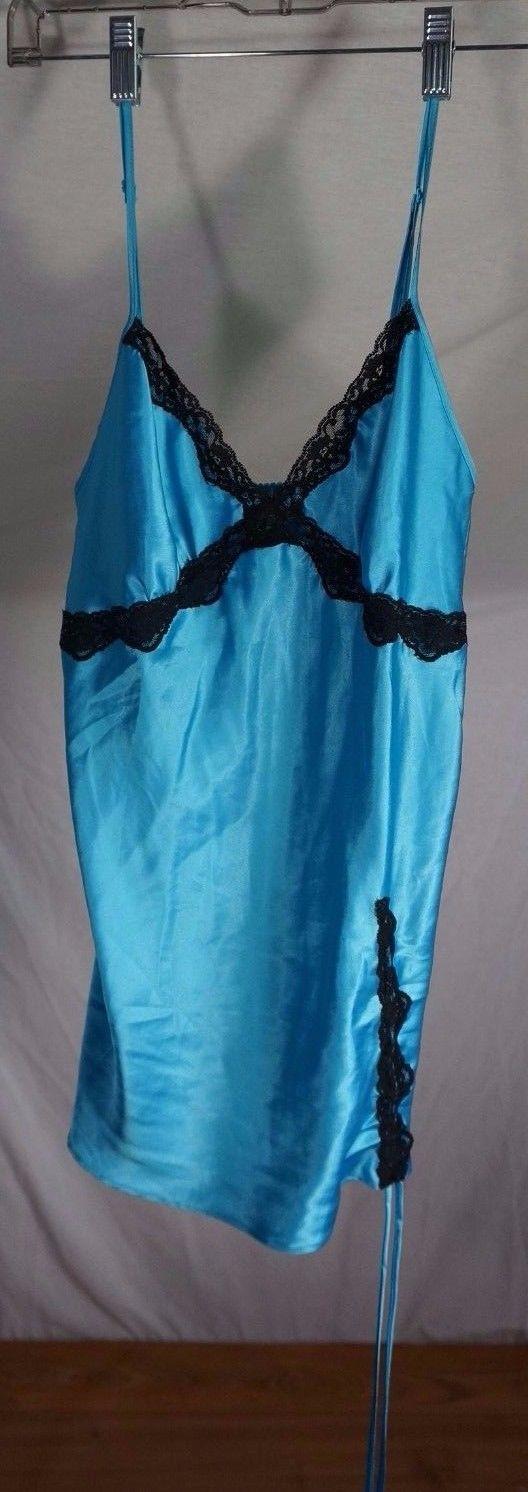 Victoria's Secret Women's Blue Lingerie Lace Drawstring Size M