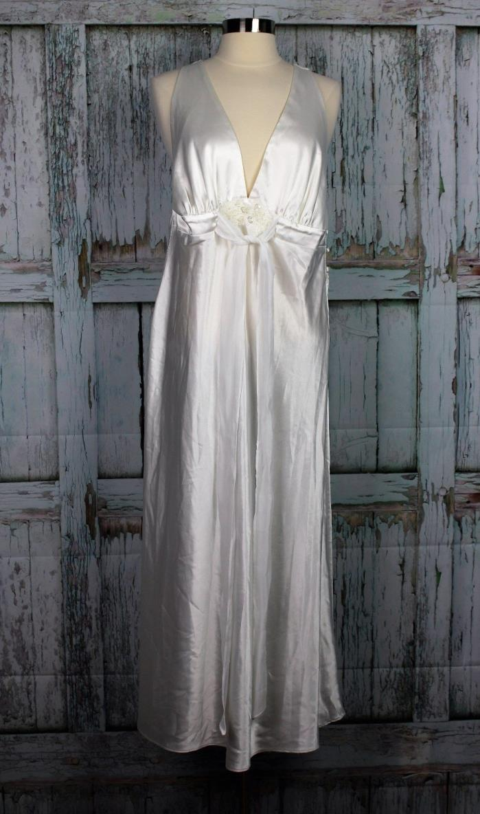 LINEA DONATELLA Ivory Lingerie Embellished Lace Bridal Nightgown Nightie