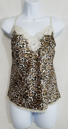 Victoria's Secret Women's Animal Print Babydoll Nightie Lingerie Top Size-Medium