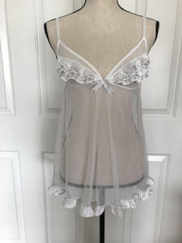 Victoria's Secret Lingerie, Bridal Negligee Set, Sz S