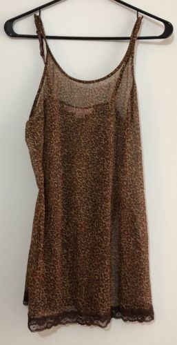 Victoria's Secret ANIMAL PRINT Nighty Size Small EUC Sheer Stretch