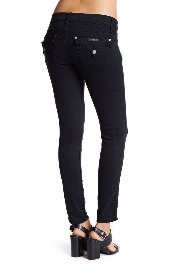 NWT HUDSON Womens Collin Flap Mid-Rise Skinny Ankle Size 28 in Black 28