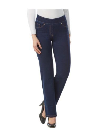 WOMENS LARGE 14-16 Nygard Slims Indigo Stretch Jeans Straight NEW $59