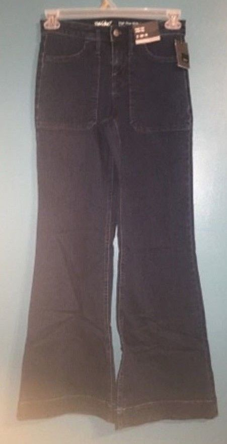 Womens Mossimo High Rise Wide Leg Jeans Vintage Blue Size 2/R -NEW