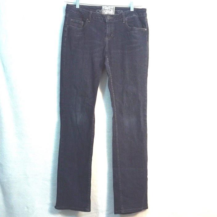 American Rag Cie Womens Jeans Size 9 R Straight Denim Med-Dark Wash Stretch Slim