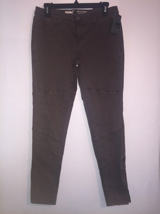 Womens Mossimo Mid-Rise Jeggings Asphal Solid Size 4 -NEW