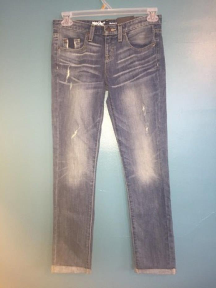 Womens Mossimo Boyfriend Jeans Blue Denim Size 00R -NEW