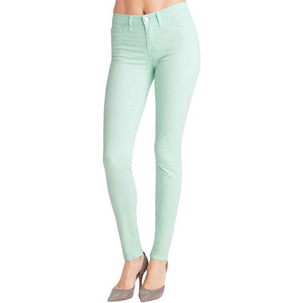 J. Brand Womens Sz 26 Skinny Leg Mint Green Seafoam Jeans Pants in Julep