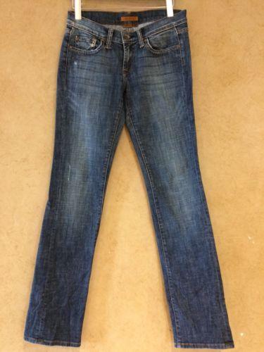 Arden B Jeans Size 6 Straight Leg Mid Rise Stretch Dark Wash Blue