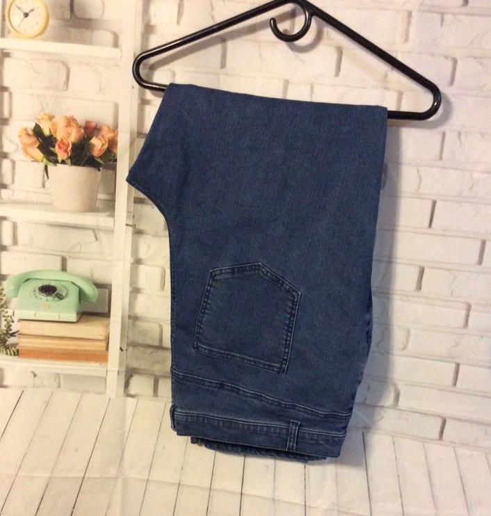 Woman Within-Women's Jeans-Medium Wash Stretch Straight Leg-Size 24W NWOT
