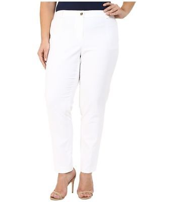 Michael Kors Plus Size Straight-Leg Ankle Pants White $120 CHOOSE SIZE