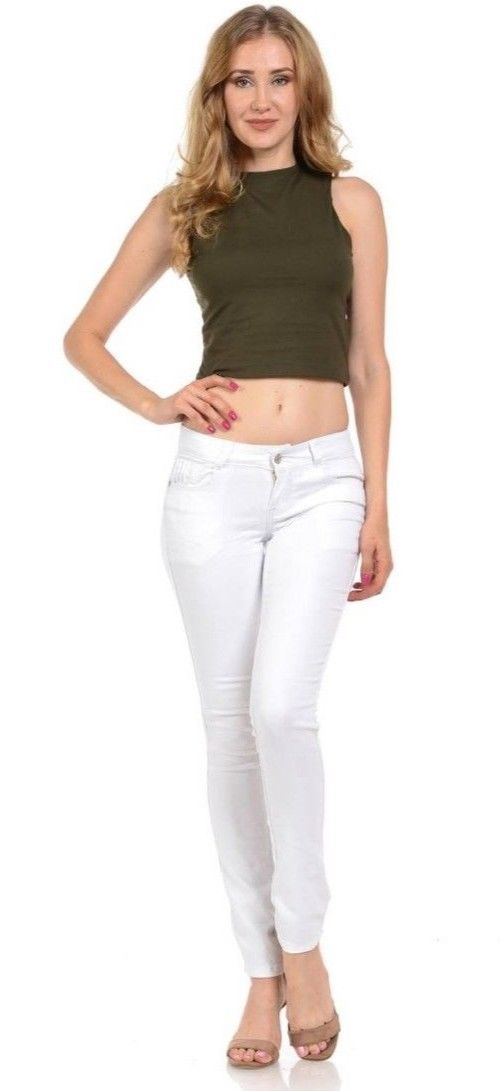 Women's White Jeans · Skinny · new without tags