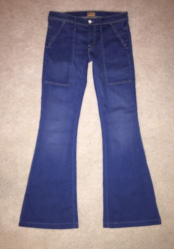 MOTHER JEANS THE HAZER FLARE WIDE LEG JEANS 27 X 31 MAIDEN AND THE UNICORN WASH