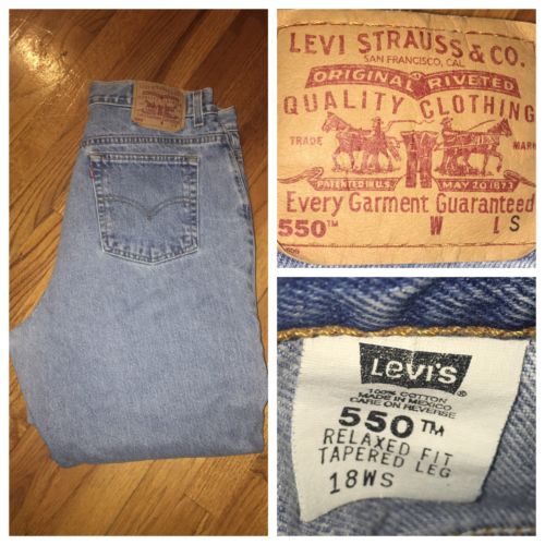 Vtg Levi's 550 High Waist Blue Mom Relaxed Tapered Jeans Plus Size 18W S