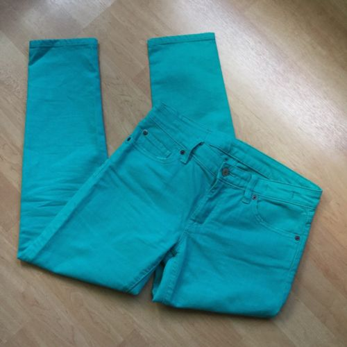 Denim & Supply Ralph Lauren SZ 27 Crop Skinny Jeans Turquoise Distressed Women