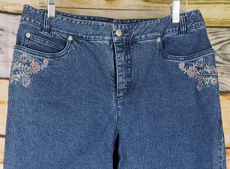 Pendleton Womens Blue Denim Jeans Sz 14 mid rise