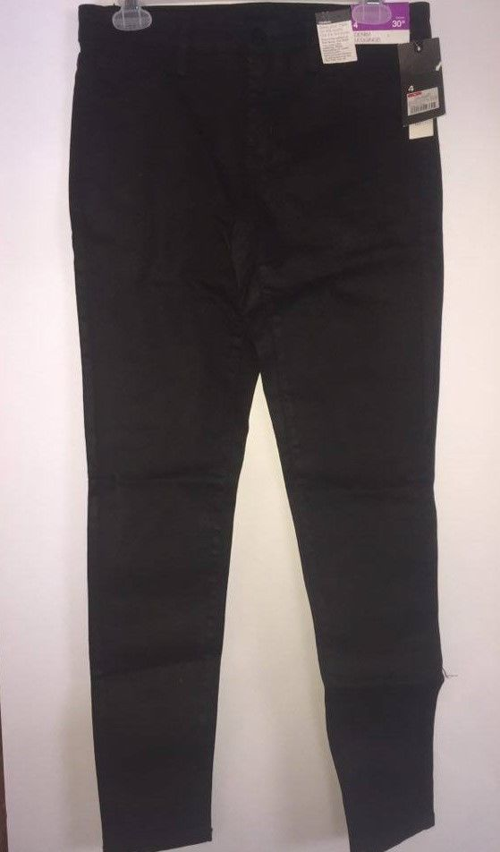 Jrs. Womens Mossimo Denim Leggings Black Coated Size 00, 4 or 6 -NEW