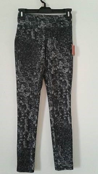 Womens Mossimo Leggings Gray/Black Print Size XS NWT
