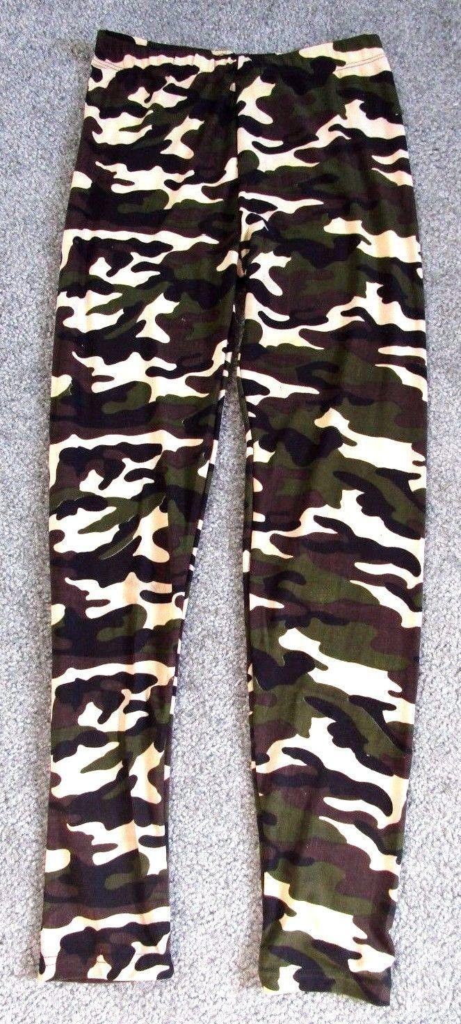 Women Fashion Clothing Bottom Camouflage Military Print Leggings