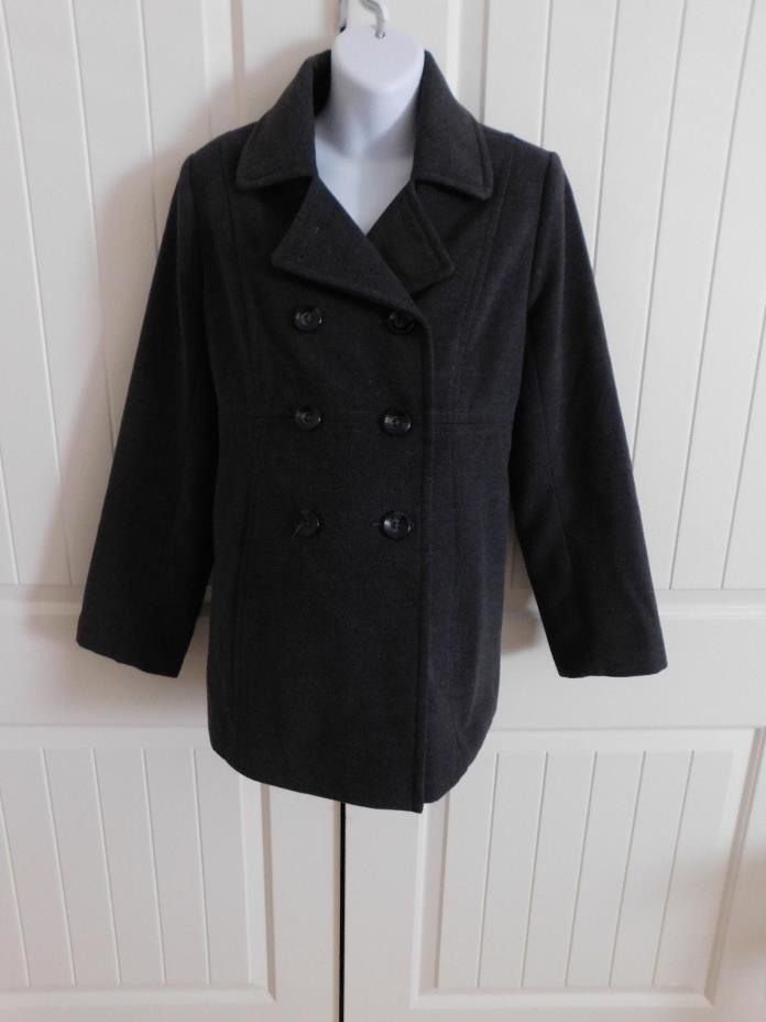 Motherhood Maternity Gray Pea coat Gray Size Large Maternity Jacket Coat