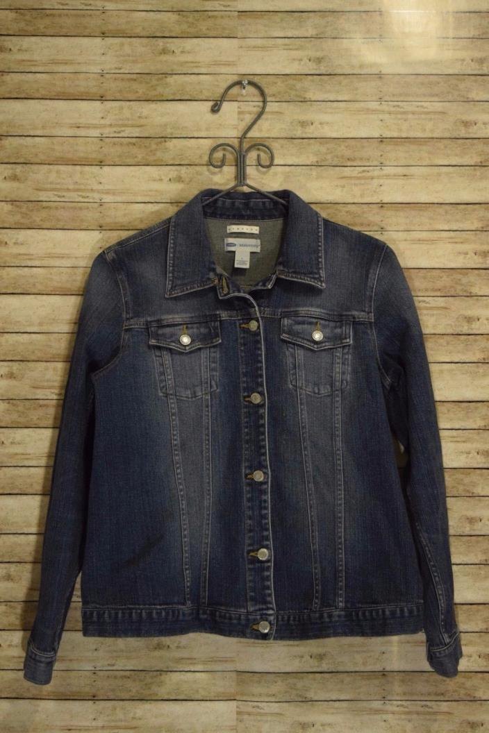 Old Navy Maternity Long Sleeve Denim Jacket Size Large
