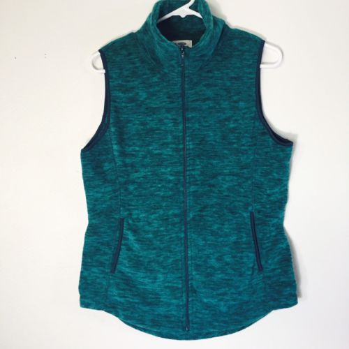 Old Navy Womens Vest Size Medium Space Teal Heathered Light Weight Inner Pocket