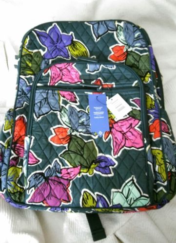 VERA BRADLEY Campus Tech Backpack Falling Flowers