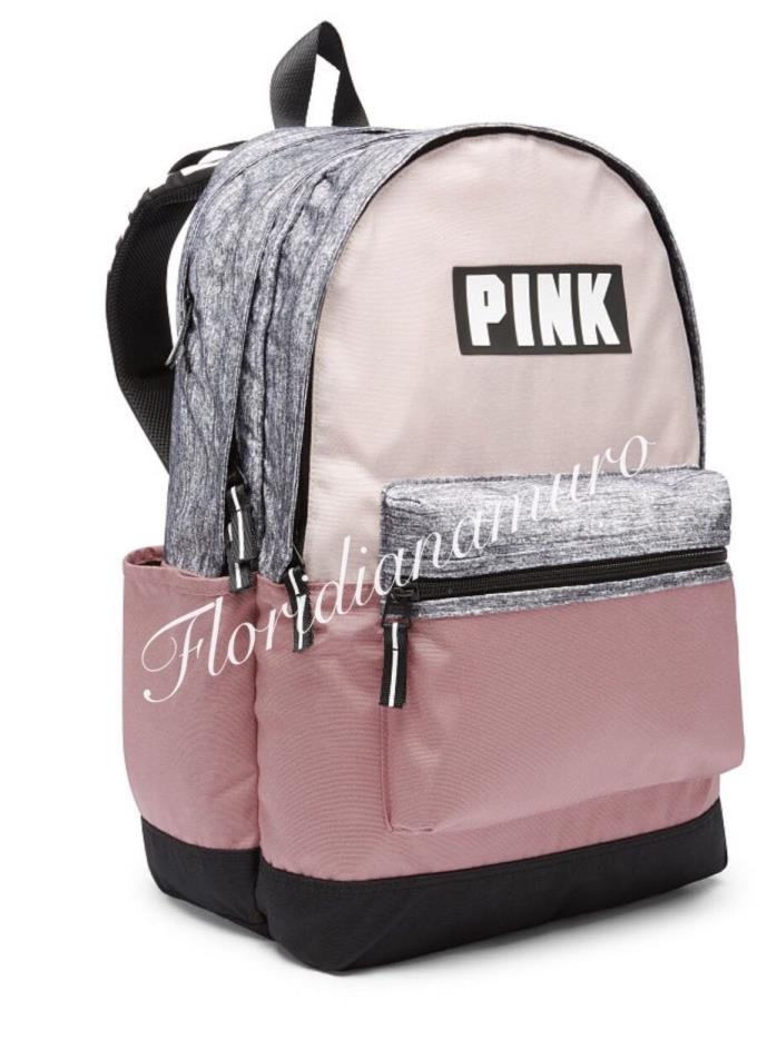 New Victoria's Secret Campus Backpack Cocoon and Perfectly Pink Gray NIP