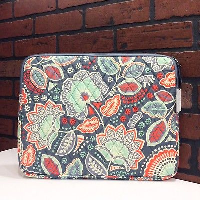 NEW Vera Bradley Padded Laptop/Tablet Sleeve in Nomadic Floral