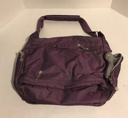 EBags Computer Messenger Bag With Adjustable Shoulder Strap - Purple