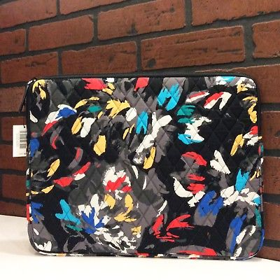 NEW Vera Bradley Padded Laptop/Tablet Sleeve in Splash Floral