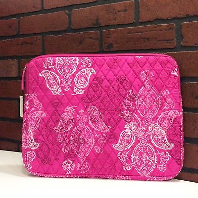 NEW Vera Bradley Padded Laptop/Tablet Sleeve in Stamped Paisley