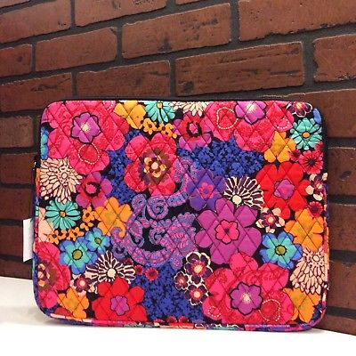 NEW Vera Bradley Padded Laptop/Tablet Sleeve in Floral Fiesta
