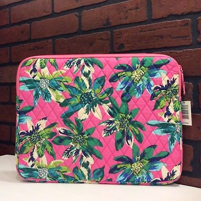 NEW Vera Bradley Padded Laptop/Tablet Sleeve in Tropical Paradise