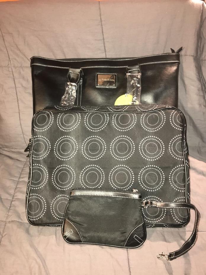 Franklin Covey Leather Cassandra Laptop Bag Black