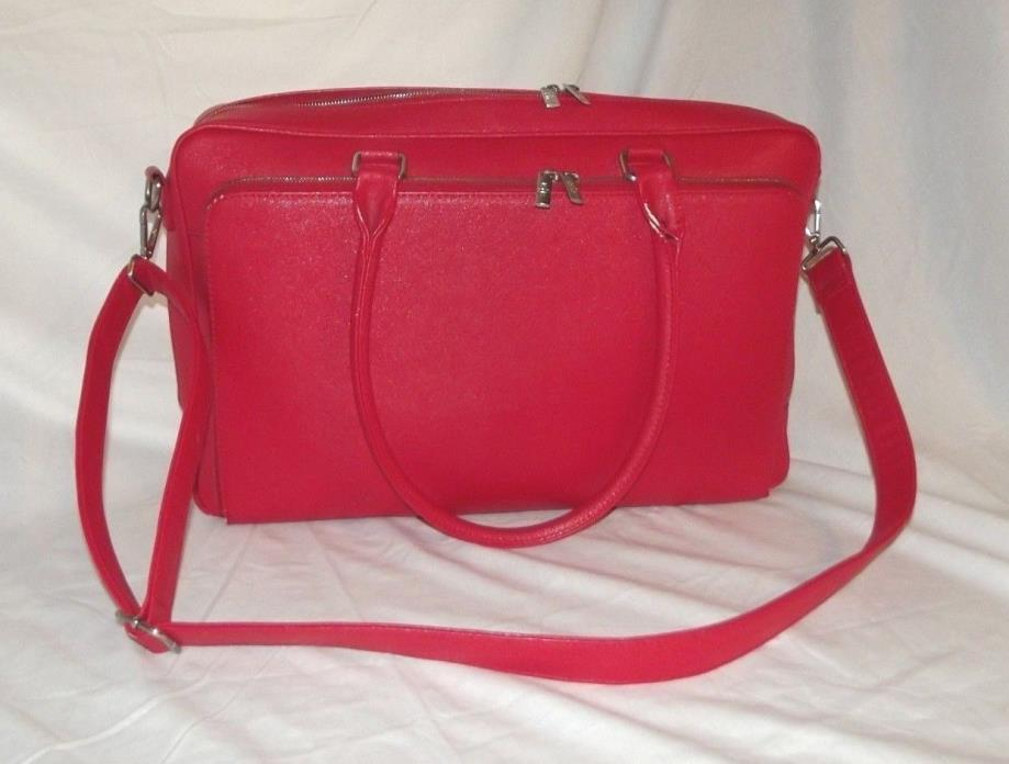 BFB My Best Friend Is A Bag Purse Large Red Melinda Laptop Work Bag