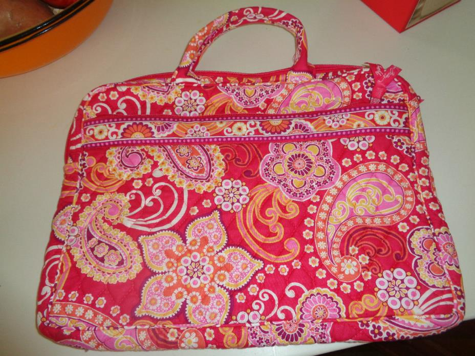 VERA BRADLEY LAP TOP I PAD CASE PINK PAISLEY 10.5 X 14 Hardly Used