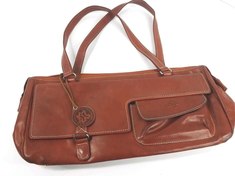 Tony Perotti Italian Leather Cognac  Handbag