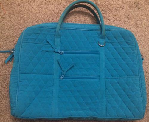 Vera Bradley Laptop Bag Coastal Blue