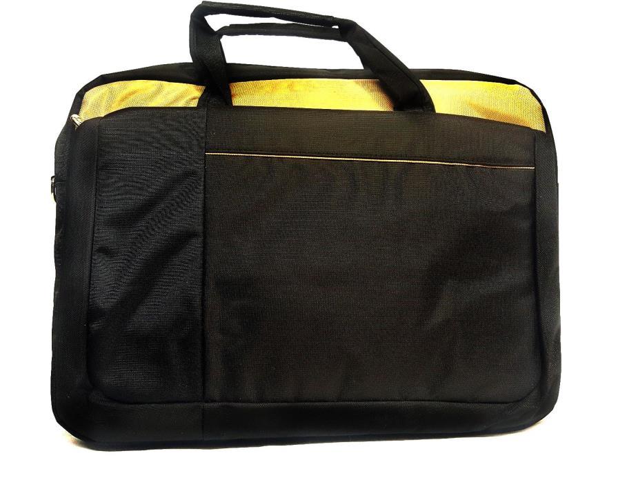 ToteIt Laptop Notebook Computer Shoulder Bag Case Briefcase Black/Gold up to 17