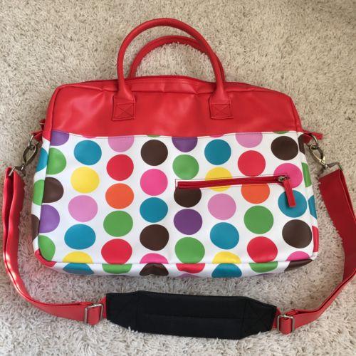 Jackie Studio C, Red, Yellow Blue Laptop Bag w/Strap, 14