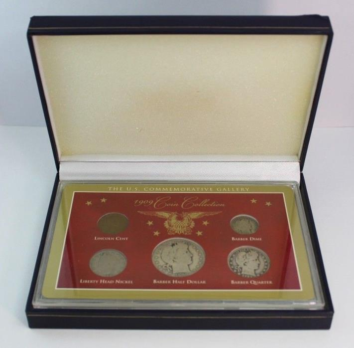 1909 Coin Collection U.S. Commemorative Gallery - Five Coins - DISPLAY CASE