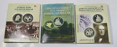 3 Classic Silver Dollar Series Gobrecht, Flowing Hair, Indian Princess Coin Sets