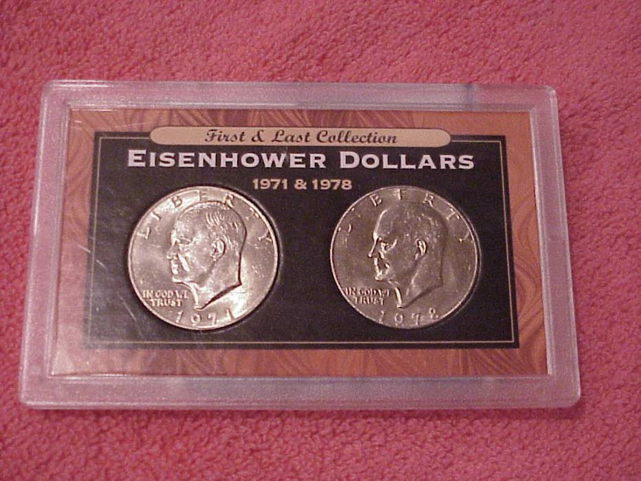 FIRST & LAST COLLECTION   EISENHOWER DOLLARS