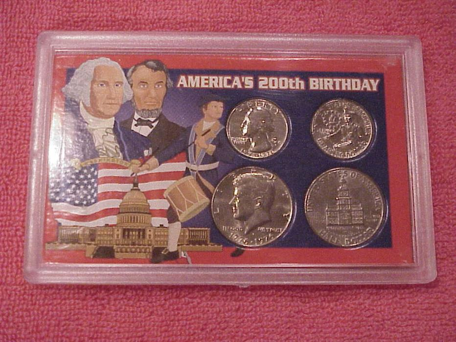 AMERICA'S  200th  BIRTHDAY COIN SET